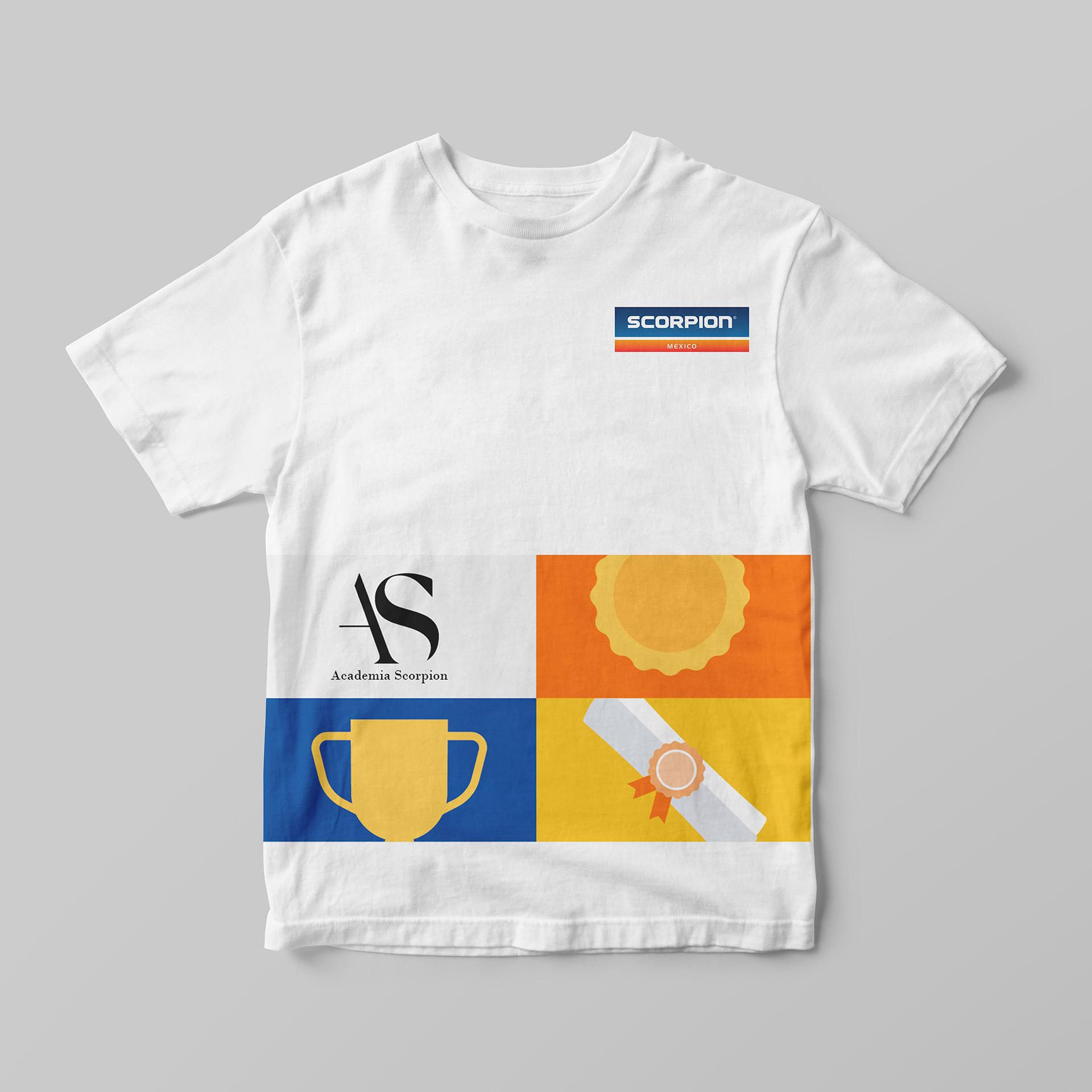 camiseta branding academia scorpion