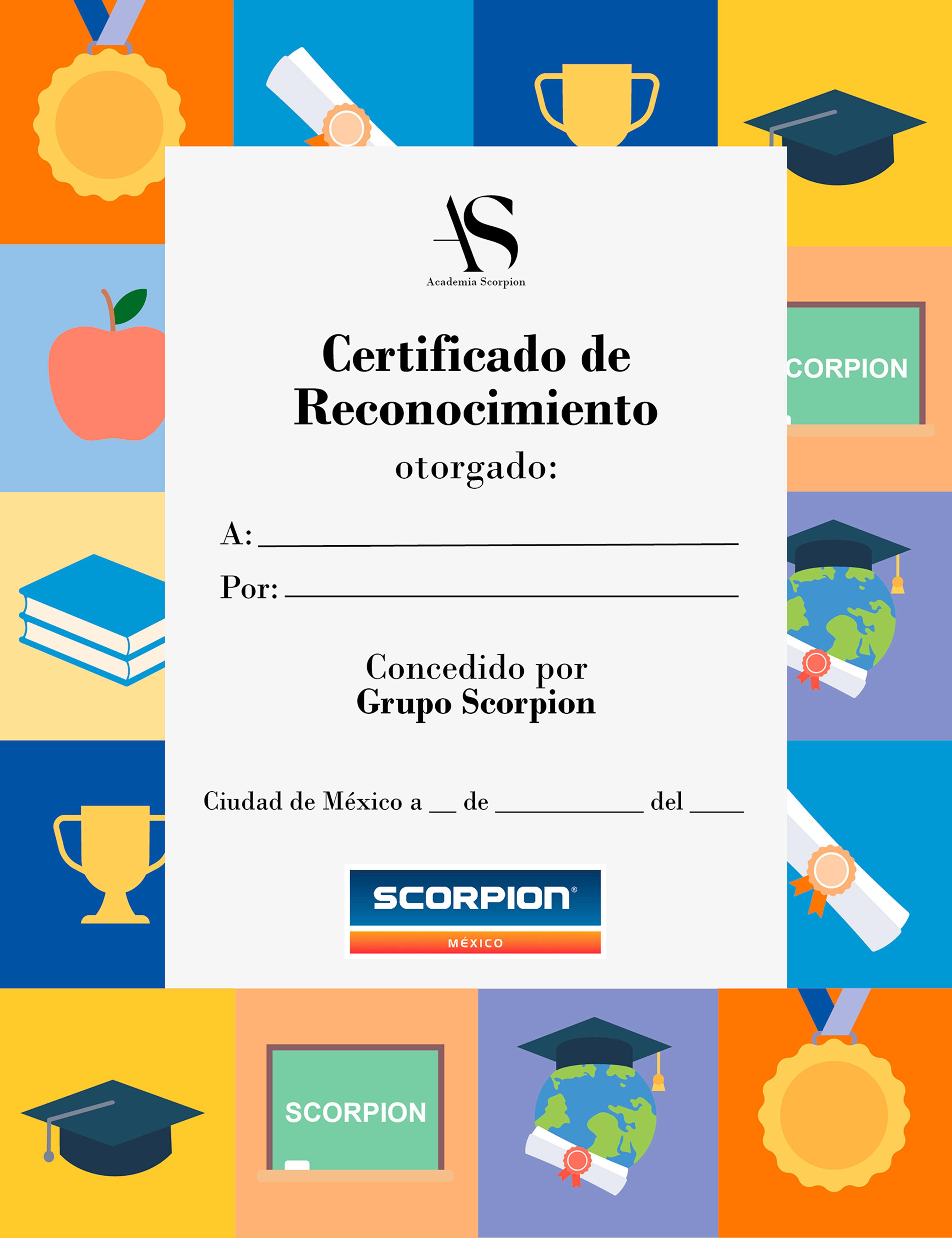 certificado academia scorpion